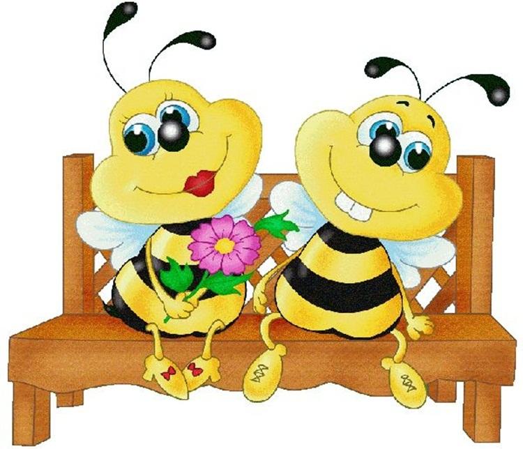 его служат картинка с пчелами и цветами смешные ждать